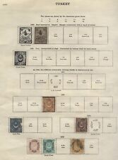 1863-1938 TURKEY Old Stamp collection lot on 10 pages Mint & Used