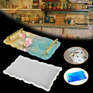 Large Rectangle iSuperb Epoxy Resin Mould Irregular Tray Mould Large Silicone Mould for DIY Resin Tray Decoration Craft