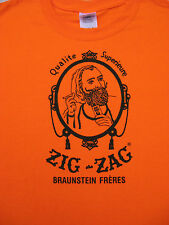 Vintage Zig Zag Man Logo T-Shirt - Classic! 420 Marijuana, Retro. Party, Gift,