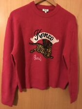 Kenzo Jumping Tiger Wool Jumper Sweater, Fuchsia Pink, Unisex, Size M RRP £415