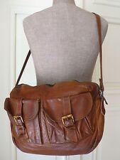 Vtg70s BONWIT TELLER Tan CROSS BODY BAG Messenger Satchel Travel Handbag