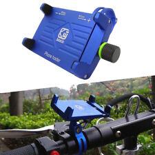 Blau CNC Motorrad Halterung Lenker 3,5-6,2 GPS Handy Halter für iPhone XS XR MAX