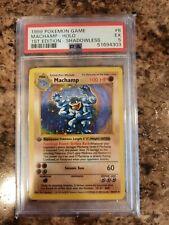 1999 Pokemon Machamp Shadowless 1st Edition PSA HOLO 5 EX #8 8/102