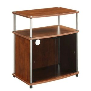 Convenience Concepts Designs2Go TV Stand w/Black Cabinet, Cherry - 151056CH