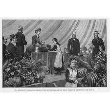Twickenham Principessa di Galles conferimento del premio alla polizia orphanage-antique stampa 1882
