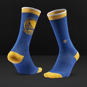 STANCE Boy's M Youth Kids 11-1 Crew Socks NBA Golden State Warriors Jersey