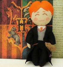 Ron Weasley Art Doll, Wizard from Harry Potter with Scabbers and Wand