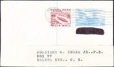 Canal Zone - 1971 -  5 + 4 Cents Ship In Lock Airmail Postal Card # UXC5 Used