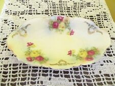Beautiful Vintage Gold Trimmed Floral Design Trinket Dish Made in Germany
