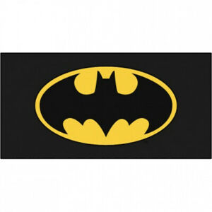 Batman Bat Man Classic Symbol Black towel Beach Swimming Comic Kids adults