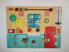 Toddler busy board, education activity board, Kids sensory Montessori toy