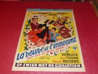 Cinema Plakat Original Belgisches La Veuve Und L'Innocent Desmarets Desailly