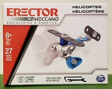 ERECTOR BY MECCANO  Helicopter 8+years - 27 parts NEW!!!