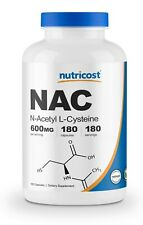Nutricost N-Acetyl L-Cysteine (NAC) 600mg, 180 Capsules - Non-GMO & Gluten Free