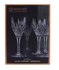 Nachtmann 4x Weinkelch Schliffdekoration Kristallglas 240ml Imperial Weinglas