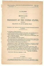 President Grover Cleveland Re: C. T. Maphet Disability Pension Request