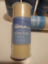 WYLA Inc 100% Nylon Wedding Craft Tutu Matte Cream Tulle 6inx25yd Qty 8 New!!!