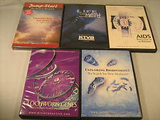 DVD Lot of 5 HEALTH, MEDICAL, SCIENCE Depression, Meth, Aids, Genes [Y50g]