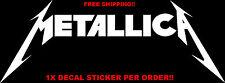 "Metallica Vinyl Decal Decals Sticker Stickers Rock Band Metal 8"" x 3"""