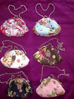 Anna Sui Rose Style Clutch Coin Purse/Hand Bag with chain 6 colour assorted