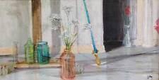 ANN CUSHING GANTZ ORIGINAL OIL PAINTING: CUSHING BOTTLES WITH FLOWERS