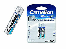 10 X CAMELION Lithium P7 Batteries LR3 FR036 Micro AAA 1,5 V 2 He Blister