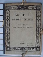 MOEBEL IM DIRECTOIRESTIL BY EGON UND WALDEMAR HESSLING BAND I TAFELTEIL 1914