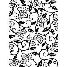 Darice Embossing Folder ~ HOLLY VINES ~ Leaves Christmas Background  1219-118