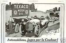1923 TEXACO Motor Oil -  French Ad