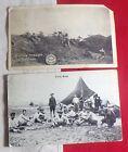WWI Era Post Cards Pancho Villa's troops, Field Scene 9/23/1916 corner damage!