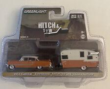 Greenlight Hitch & Tow 1955 CADILLAC FLEETWOOD SERIES 60 SHASTA AIRFLYTE JJ4