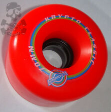 Kryptonics Classic K-skateboard ruote 70 mm / 78 bis-Rosso kryptonic / KRYPTOS