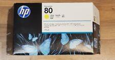 HP DesignJet 80 Gelb Yellow C4873A MHD Jun/19