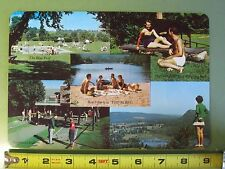 """Vintage Large 6"""" x 9"""" Postcard From Defunct """"Happy Acres"""" Resort in Connecticut"""