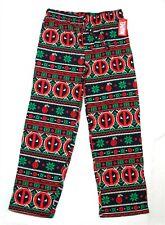 Deadpool Fair Isle Knit Sleep Pants Men's Sleepwear Marvel XL 100% Cotton