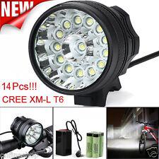 35000LM 14x CREE XM-L T6 LED 6 x 18650 Bicycle Cycling Light Waterproof Lamp Set