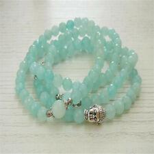 6MM Amazonite Bracelet 108 Beads Buddha Head Mala Bless Wrist Yoga Lucky Unisex