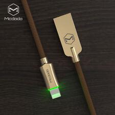Mcdodo Smart LED Lightning Nylon Braided Sync Charge USB Data Cable iPhone 8 7 6