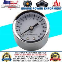 "Fuel Oil Pressure Gauge 0-15 PSI 1/8 NPT 1.5"" Female Port Mechanical Full Sweep"