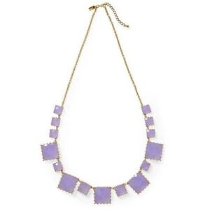 KATE SPADE ♤ NEW YORK PALM PEARLS LONG NECKLACE STATEMENT LILAC PURPLE $148
