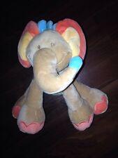 Nattou Oasis Elefant Palme Braun Orange Blau Ohren Rüssel Kuscheltier Plüschtier