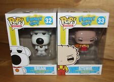 FUNKO POP! - Family Guy - STEWIE #33 & BRIAN #32 / Includes Protectors / Retired