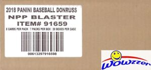2018 Donruss Baseball EXCLUSIVE Sealed 20 Box Blaster CASE! Look for Ohtani Auto