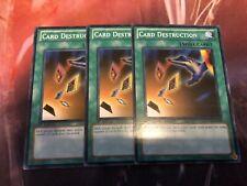 Yu-Gi-Oh Card Destruction SDGU-EN028! Common! 1st! X3!