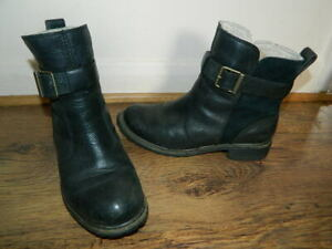 womens black leather Timberland pull on boots uk 5 eur 38