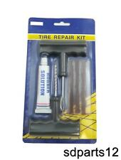 Kit de réparation Tubeless Crevaison Pneus Voiture Moto Outils 3 Mèches inclus