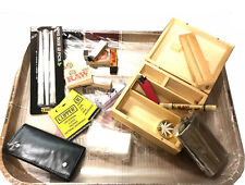 RAW WOODEN BOX + RAW XL TRAY/POUCH/RAW TIP/FLASK/ROLLING MACHINE/GRINDER SET 2