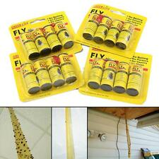 16x Rolls Insect Bug Fly Glue Paper Catcher Trap Ribbon Tape Strip Sticky Yellow