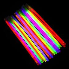 """1/10/20/30/40/50/100 Neon Glow Sticks 8"""" Bracelet Festivals Party Bags CHEAPEST!"""