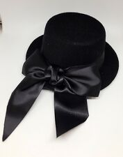 "5"" BLACK COSPLAY MINI TOP PARTY HALLOWEEN BOW HAT HAIR FASCINATOR WEDDING"